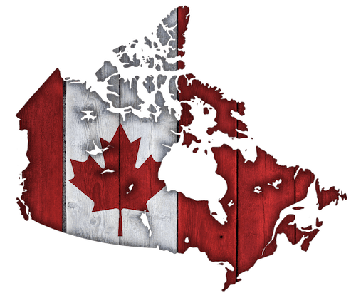 stylized map of Canada